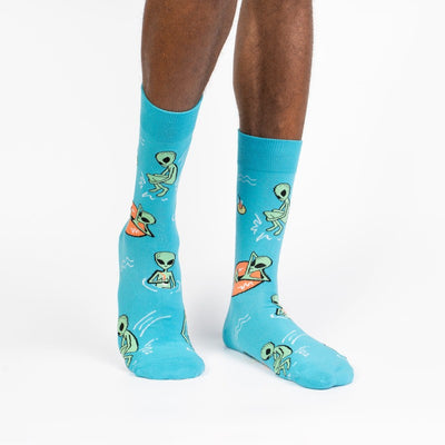 Sock it to Me Men's Crew Socks Unknown Floating Object