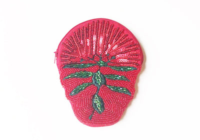 Caroline Mitchell Pohutukawa Beaded Shaped Coin Purse 441