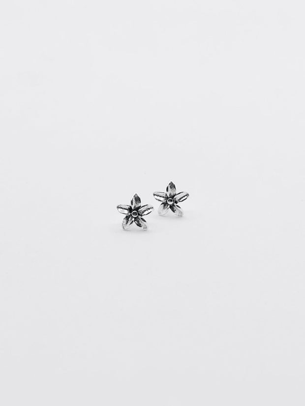 Some Sterling Silver Frangipani Stud Earrings 113