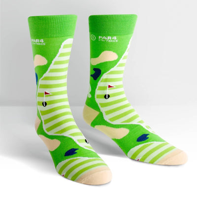 Sock it to Me Men's Crew Socks Par 4 Golf