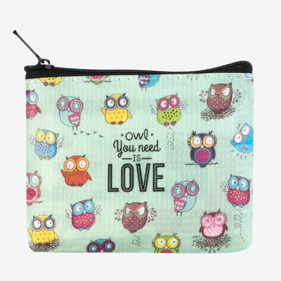 Legami Zipper Pouch Small Coin Purse Owl You Need is Love