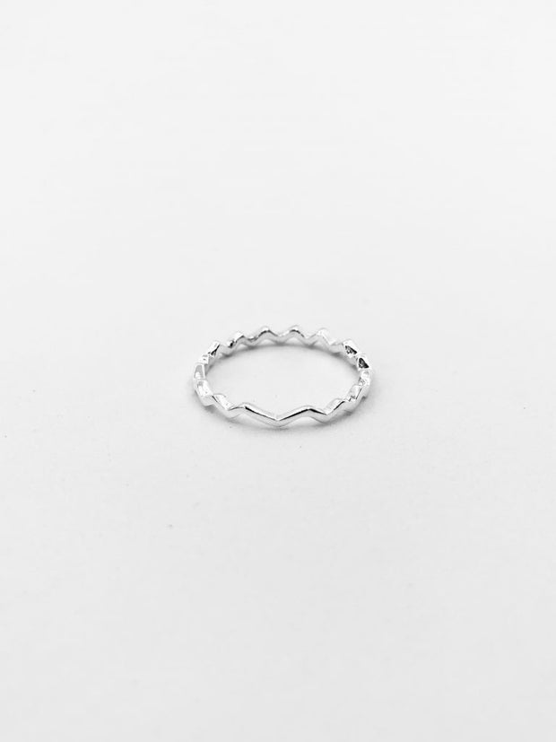 Some Sterling Silver Zig Zag Ring 087