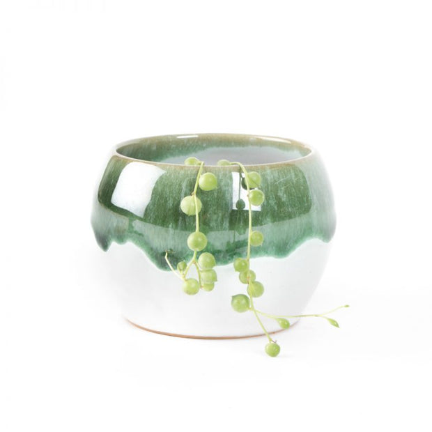 Trade Aid Green Lipped Planter