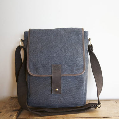 Trade Aid Stone canvas satchel  09.22.9249