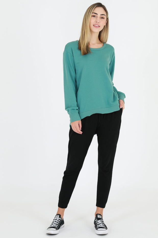 3rd Story Newhaven Sweater in Sea Green
