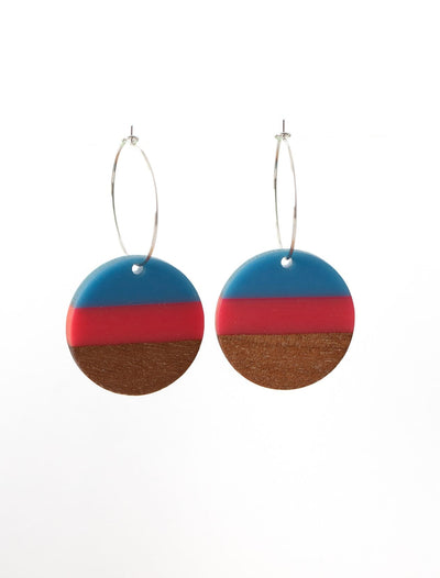 Stilen Lizzy Ruby Earrings