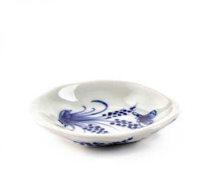 Trade Aid White dish with blue butterfly 28.02.126