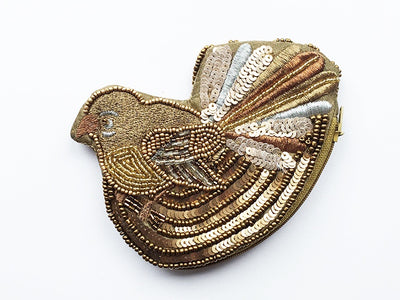 Caroline Mitchell Metallic Fantail Shaped Purse