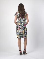 Vassalli Fitted Dress with Cap Sleeve 6060 in Vita