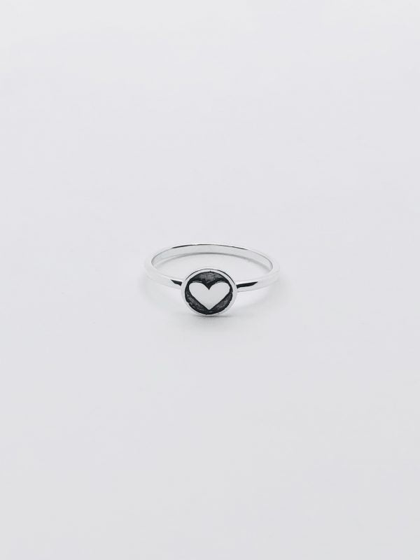 Some Sterling Silver Mia Heart Ring 082