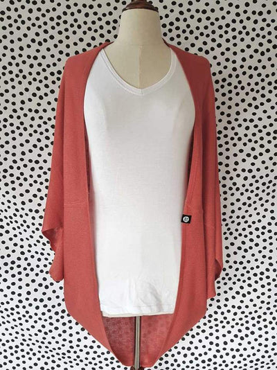 Hello Friday Flo Cardi in Terracotta 250