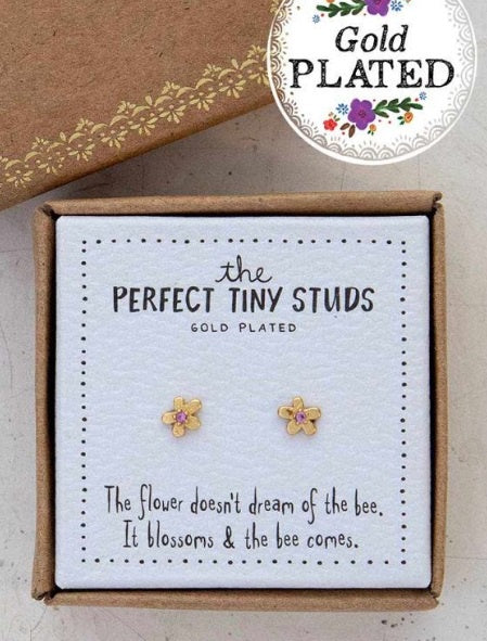 Natural Life Perfect Tiny Studs Flower 063
