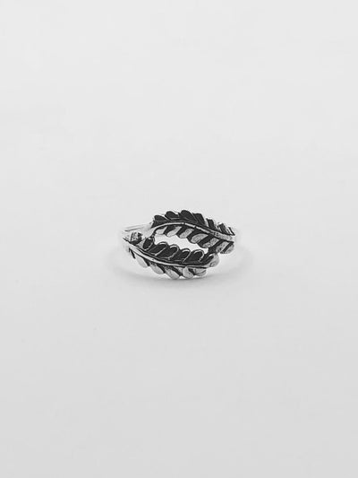 Some Sterling Silver Double Fern Ring 164