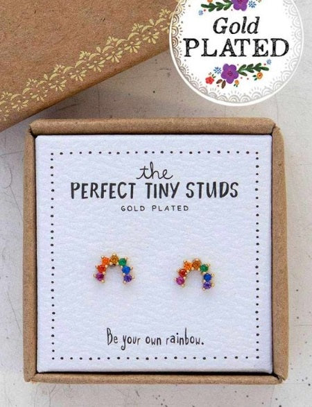 Natural Life Perfect Tiny Studs Rainbow 058