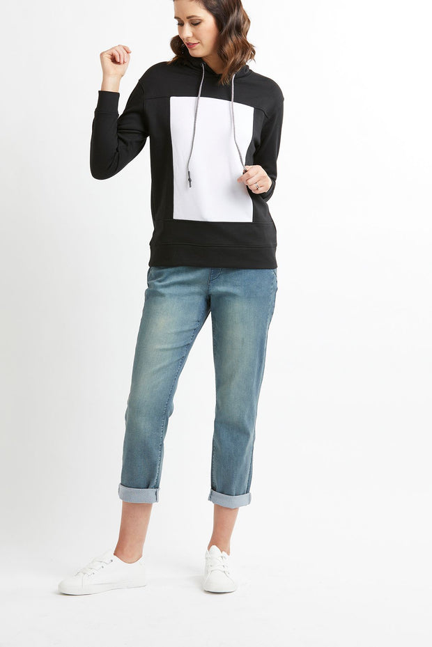 Preen Hooded Jumper with Panel Detail TP11998