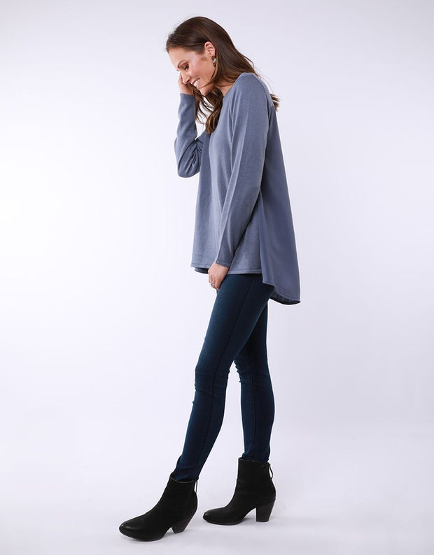 Elm Flowing Mix Knit Blue
