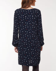Elm Multi Spot Dress in Navy 8172070