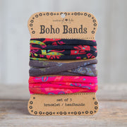 Natural Life Boho Bands Black Charcoal Pink Multi 004