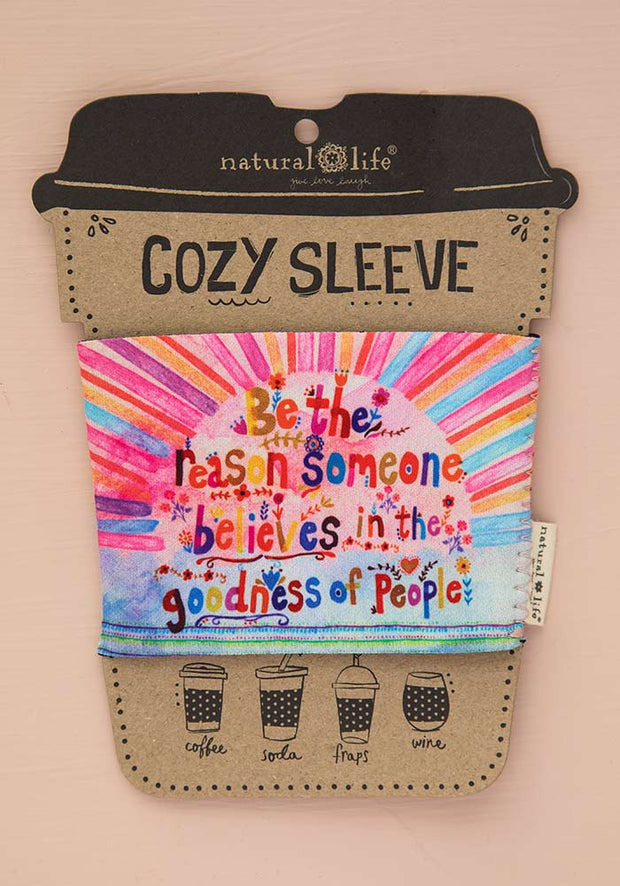 Natural Life Someone Smiles Cozy Sleeve 088