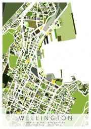 Wellington By Karyn McDonald Box Frame Map