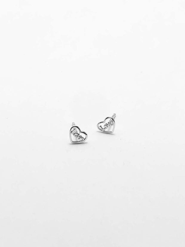 Some Small Sterling Silver Love Stud Earrings 147