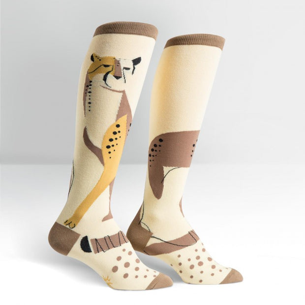 Sock it to Me Women's Knee High Socks Cheetah Pet