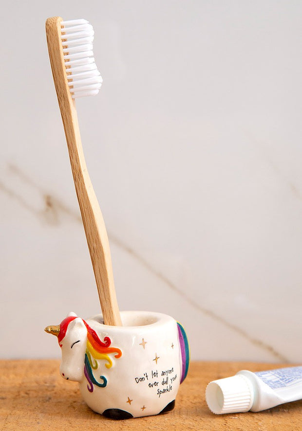 Natural Life Toothbrush Holder Unicorn 001