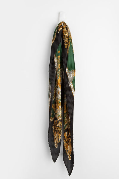 Stilen Summer Pleat Scarf Green