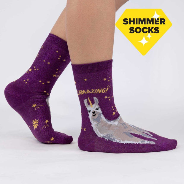 Sock it to Me Women's Crew Socks Llamazing
