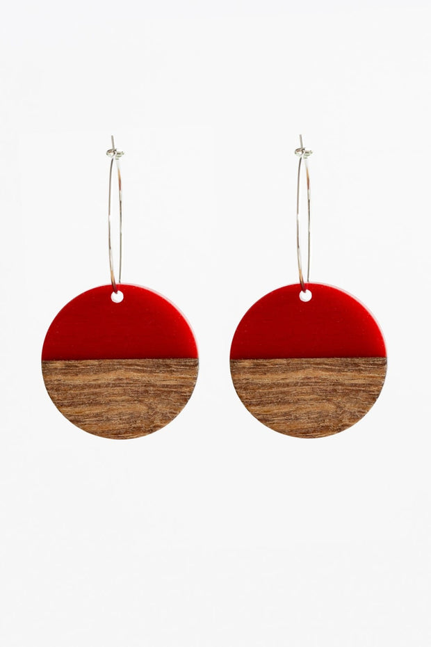 Stilen Erin Red Brick Earrings