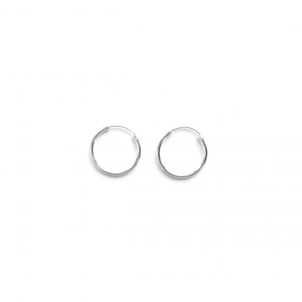 Sparkle Sterling Silver 15mm Sleeper Earrings 531