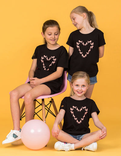 Stella and Gemma Children's Eden Tee Black Unicorn 9005