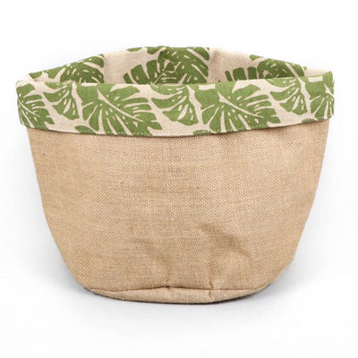 Trade Aid Leaf print basket 01.04.1680