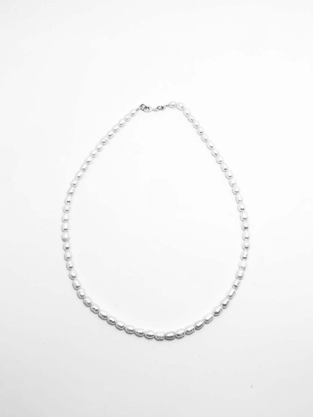 Some Sterling Silver Small Pearl Necklace 891