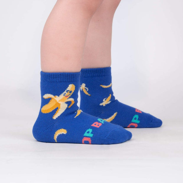 Sock it to Me Toddler Crew Socks Top Banana Age 1-2