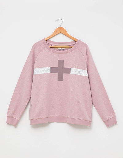 Stella and Gemma Sweater Lilac Camo Stripe Cross 3051