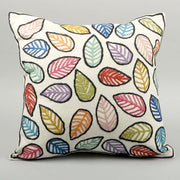 Trade Aid Cotton and Wool Mix Leaf Design Cushion Cover