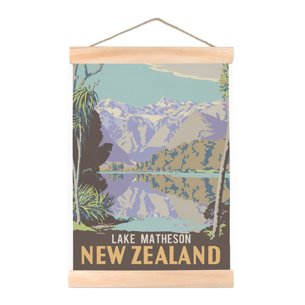 100% NZ Lake Matheson Mini Wall Chart