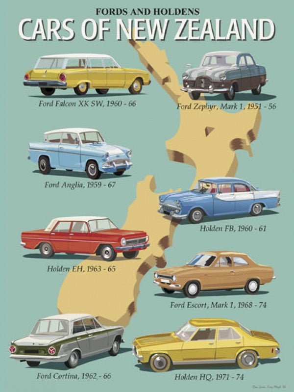 Image Vault Classic Cars of NZ Print Only 40 x 30cm Paper