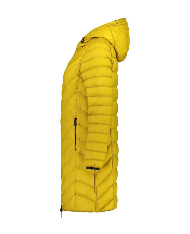 Moke Arnie Reversible Puffer in Ink / Saffron