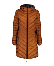 Moke Arnie Reversible Puffer in Wetlook Black/Tobacco