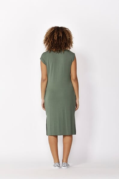 Betty Basics Hvar Midi Dress in Olive