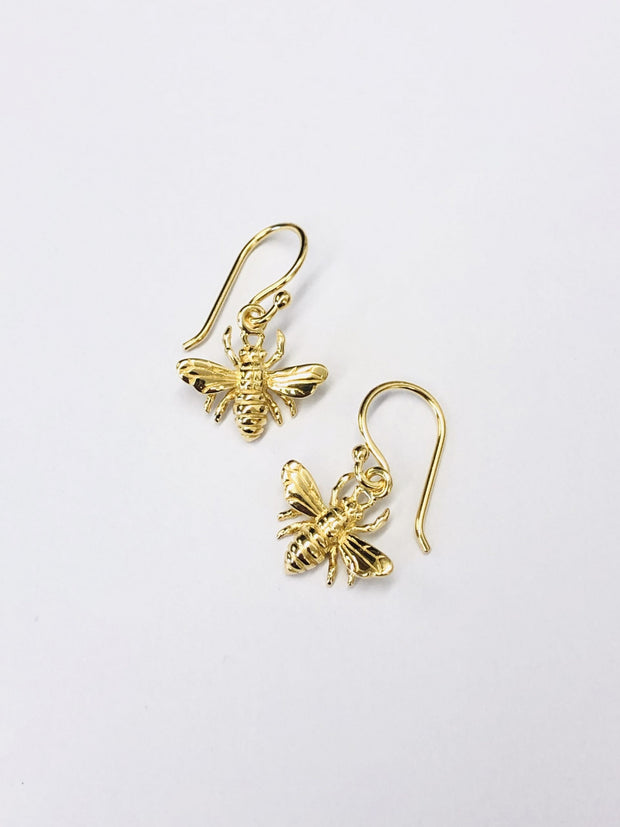 Some 18k Gold Plated Bee Hook Earrings 214