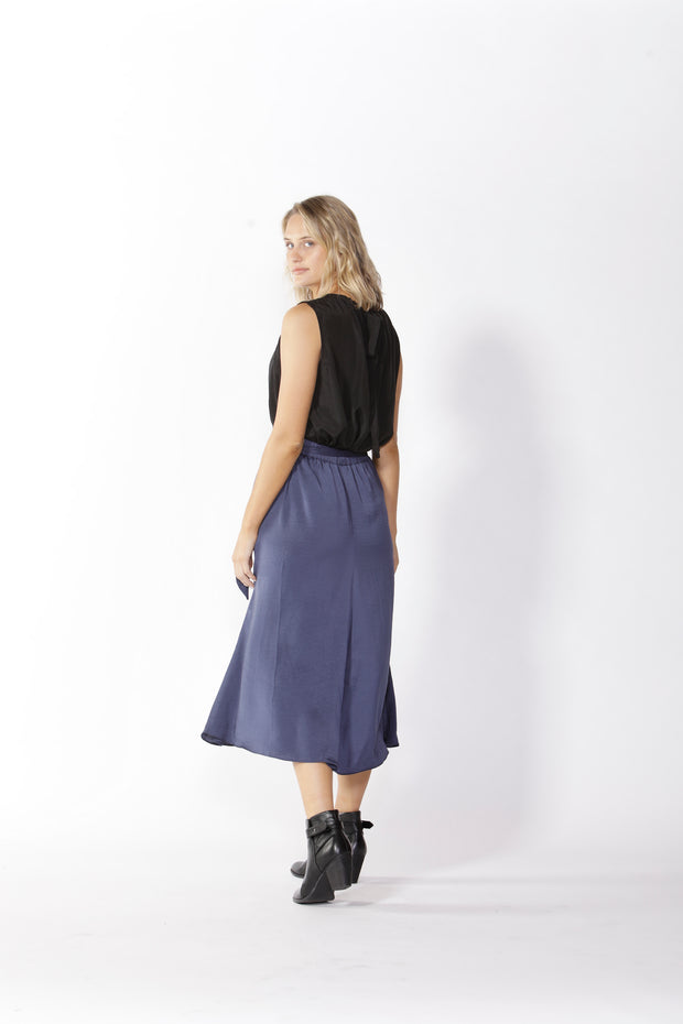 Fate and Becker Ophelia Midi Skirt in Ocean