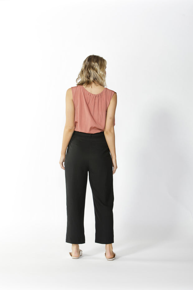 Fate and Becker Salisbury Pleated Pant in Black Magic