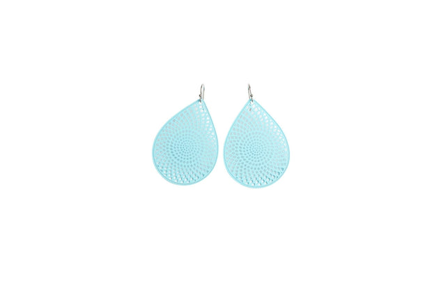 Stilen Iris Earrings Aqua