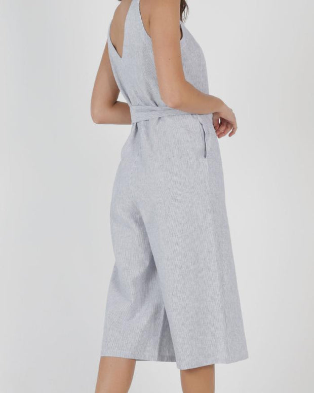 Betty Basics Joey Jumpsuit in Pinstripe