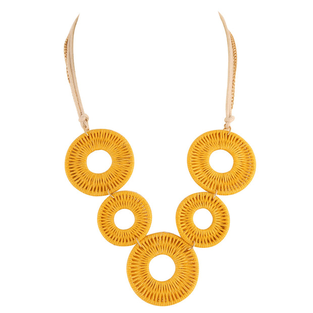 Enhance Mini Necklace in Yellow