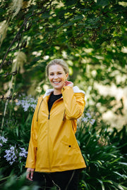 Moke Mel Ladies Short Rain Jacket RU021 Mustard