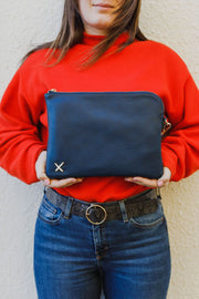 Home Lee Oversized Clutch Bag Navy Blue 001